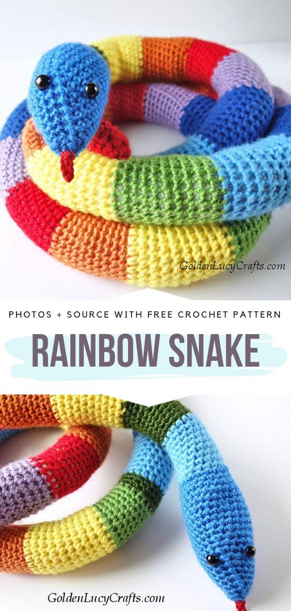 Rainbow Snake Free Crochet Pattern