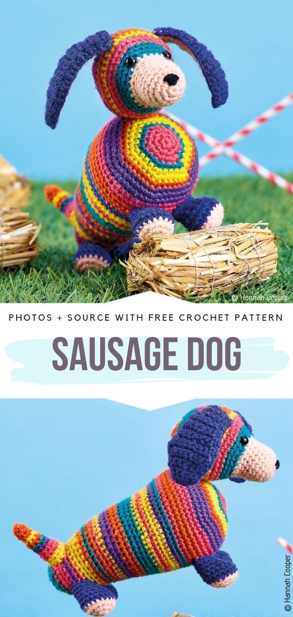 Sausage Dog Free Crochet Pattern