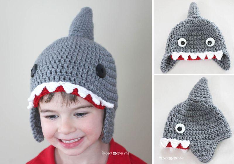 Shark Hat Free Crochet Pattern