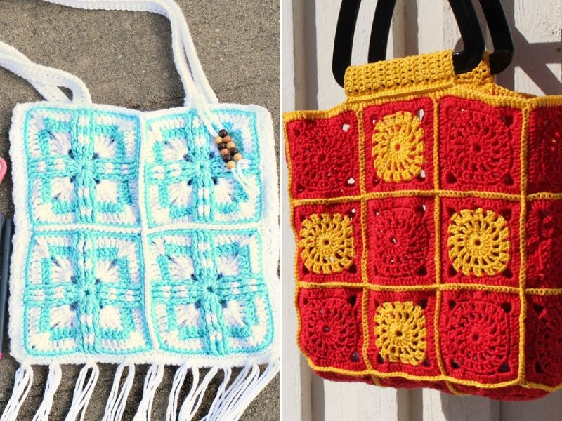 Square Summer Bags Free Crochet Patterns