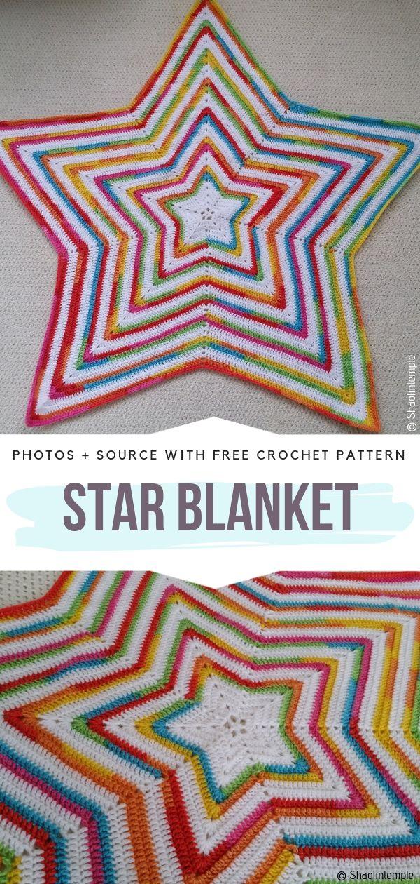 Star Blanket Free Crochet Pattern