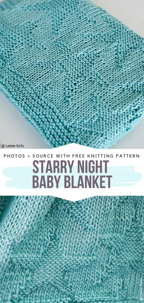 Starry Night Baby Blanket Free Knitting Pattern
