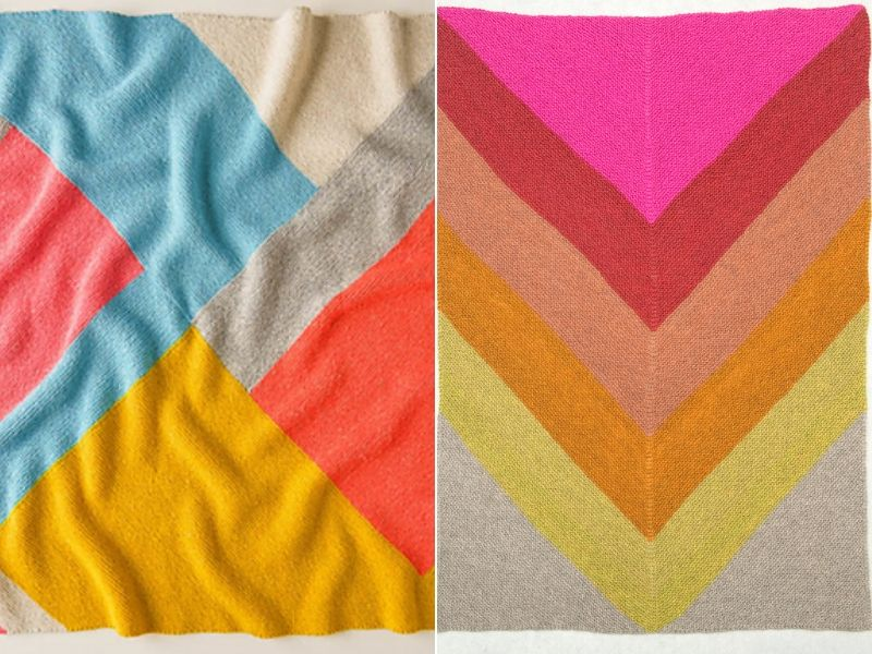 Striking Knitted Blankets Free Patterns