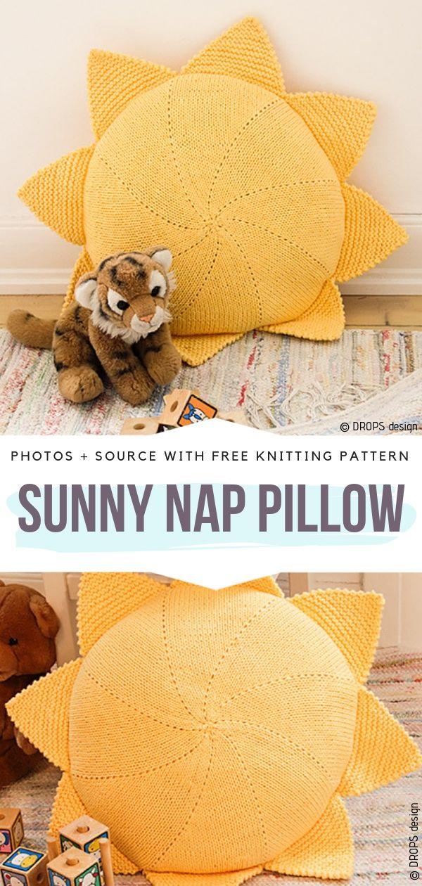 Sunny Nap Pillow Free Knitting Pattern
