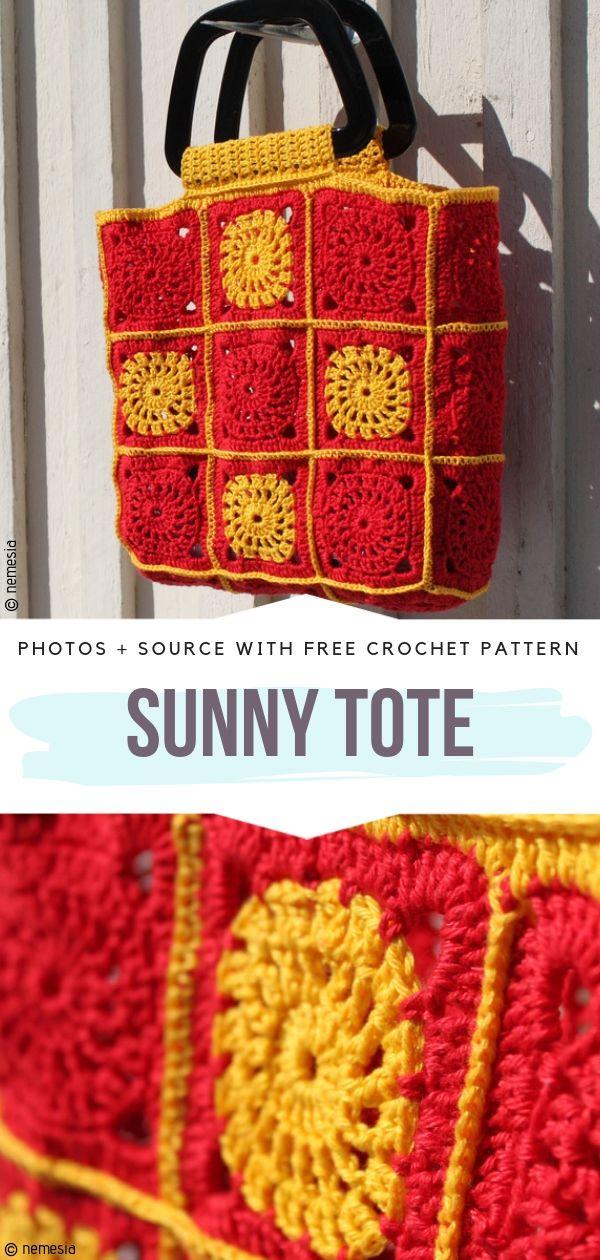 Sunny Tote Free Crochet Pattern
