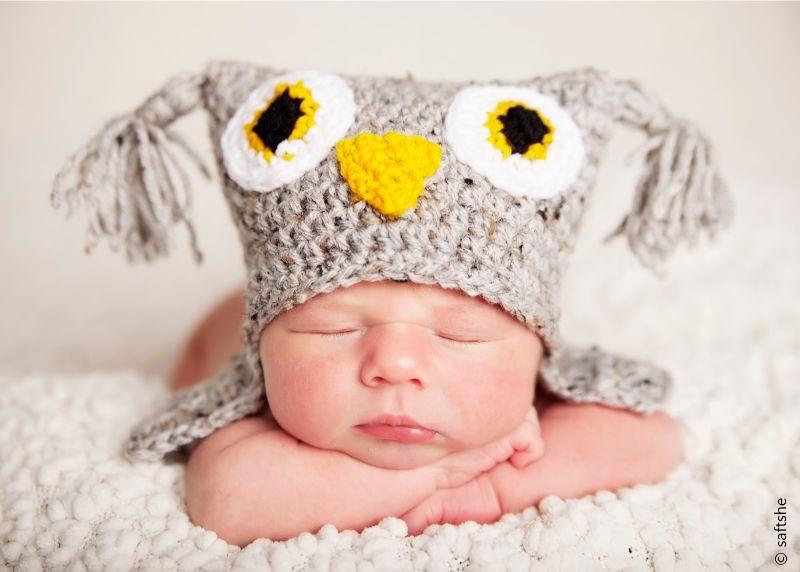 Tweedy Owl Hat Free Crochet Pattern