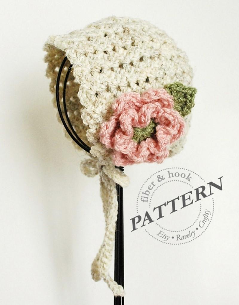 Petite Shells Baby Bonnet Crochet Pattern