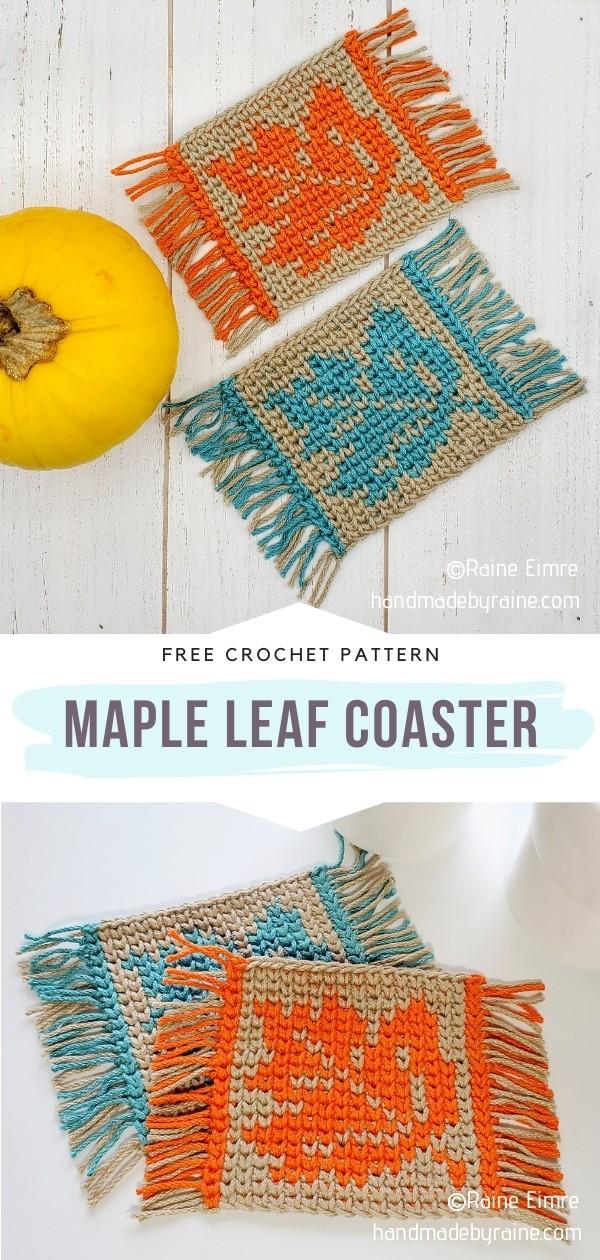 Crochet Leaf Coaster