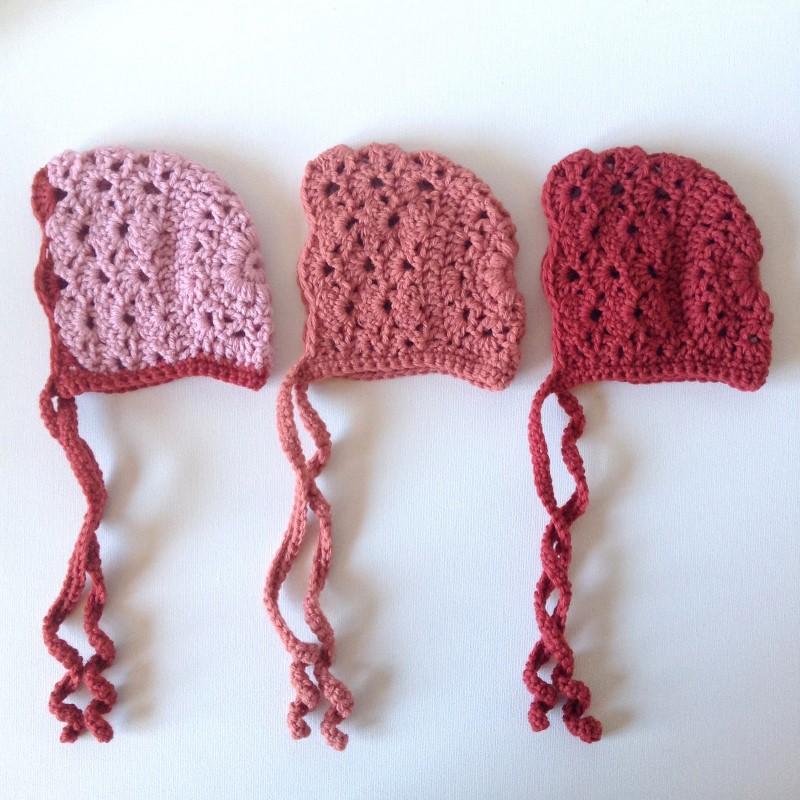 Apricot Baby Bonnet Free Crochet Pattern