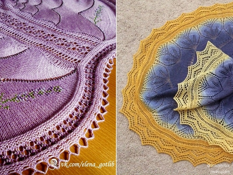 Tropical Lacy Shawls with Free Knitting Patterns