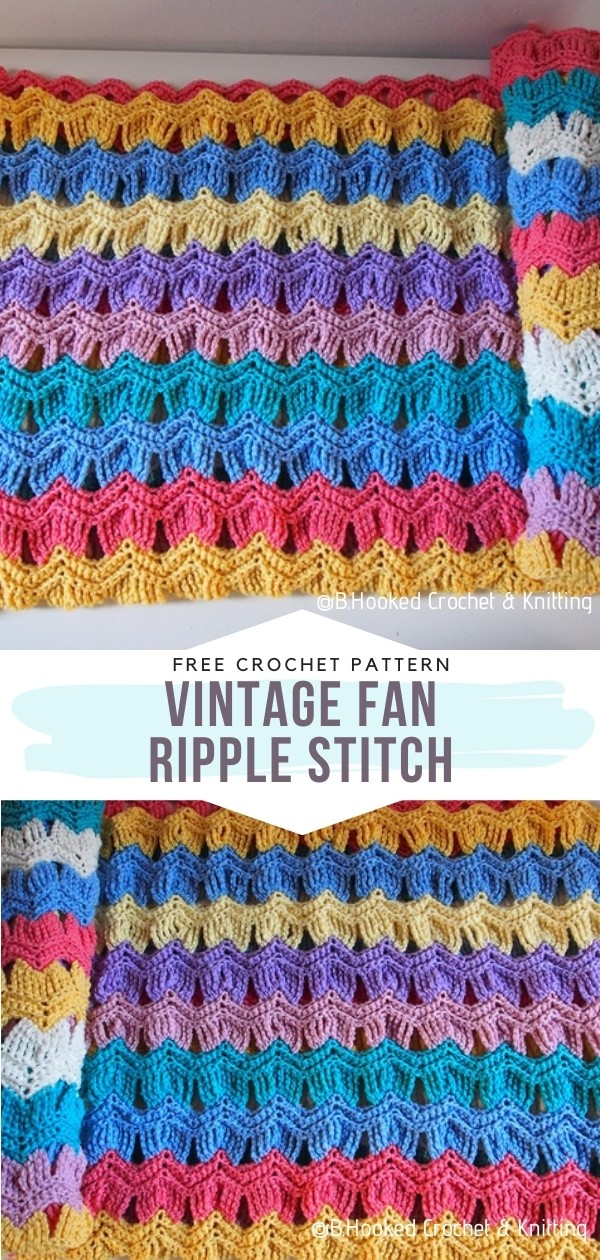 Vintage Fan Ripple Stitch