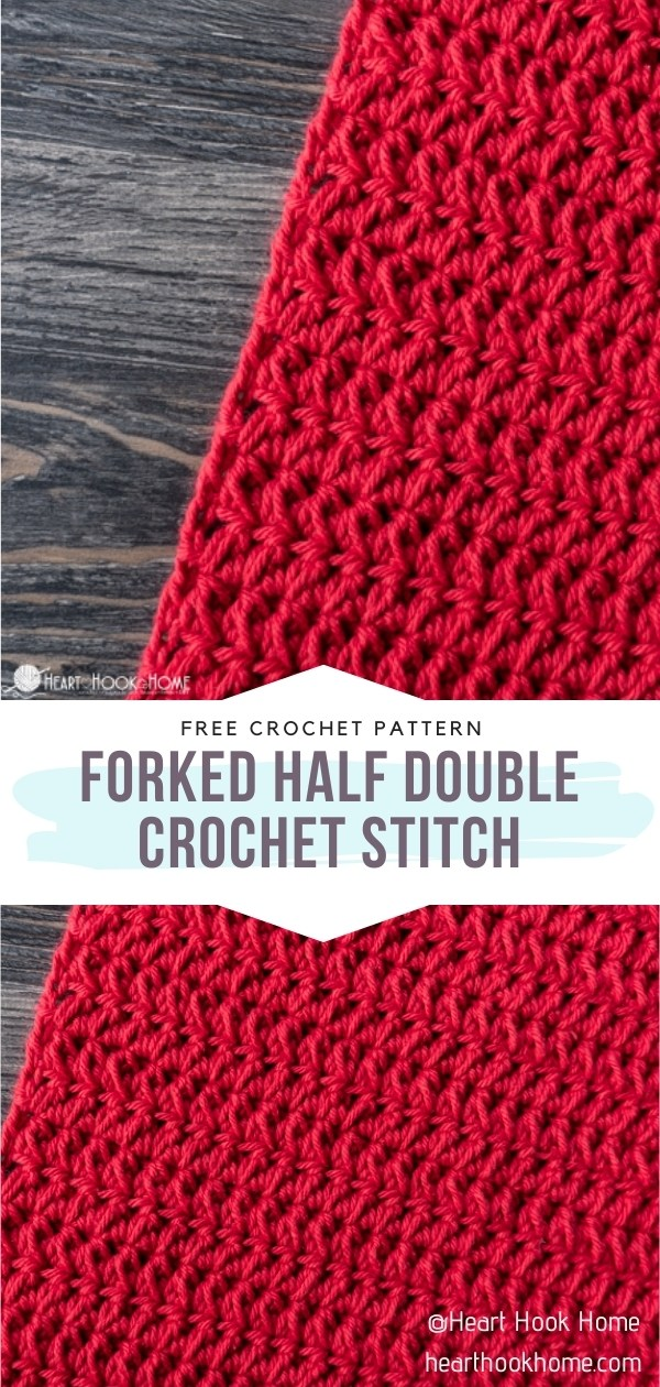 Forked Half Double Crochet Stitch