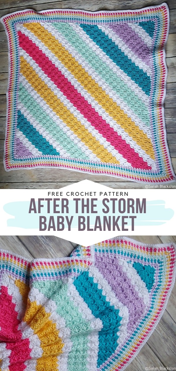 After the Storm Baby Blanket Free Crochet Pattern