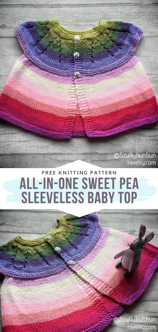 Colorful Knit Baby Cardigan
