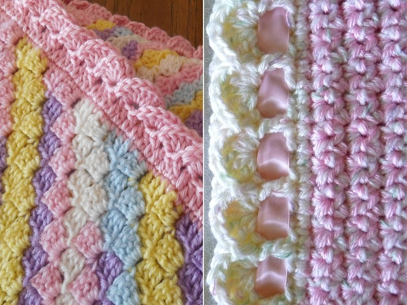 Baby Bankets with Lovely Edgings Free Crochet Patterns