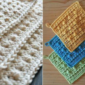 Beautiful Structural Dishcloths Free Crochet Patterns
