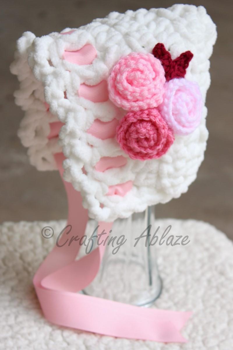 Toot Sweet Newborn Bonnet Free Crochet Pattern