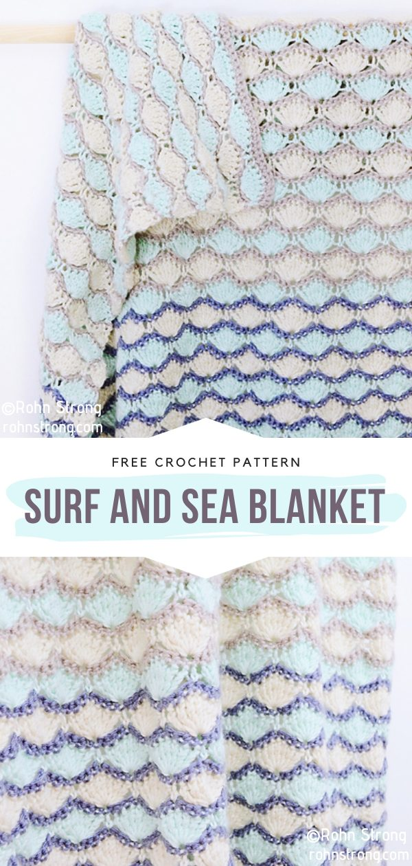 Surf and Sea Blanket Free Crochet Pattern
