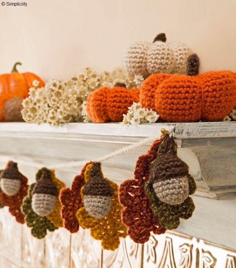 Crochet Fall Garland