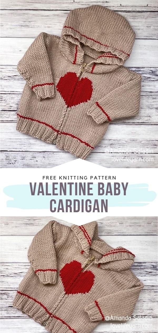Valentine Baby Cardigan