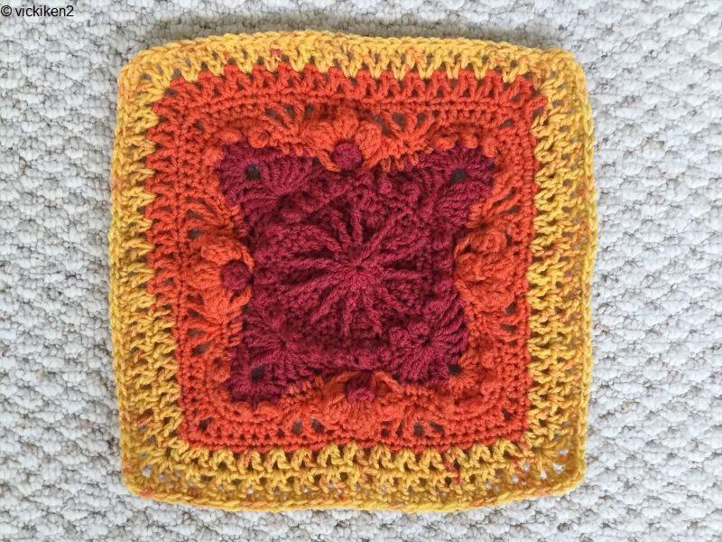 Afghan Block Autumn on My Mind Free Crochet Pattern