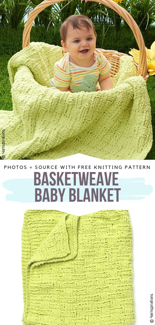 Knitted Basketweave Baby Blankets Free Patterns
