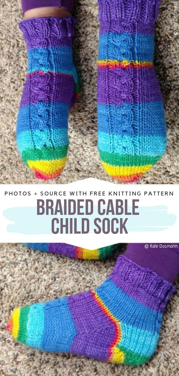 Children`s Knitted Socks Free Patterns