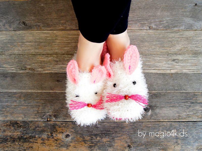 Bunny Slippers Crochet Pattern