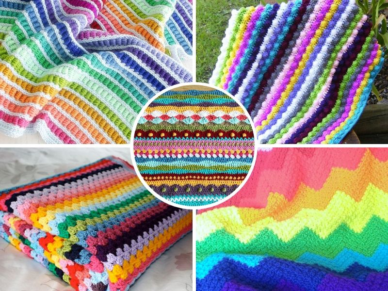 Colorful Stripes Blankets