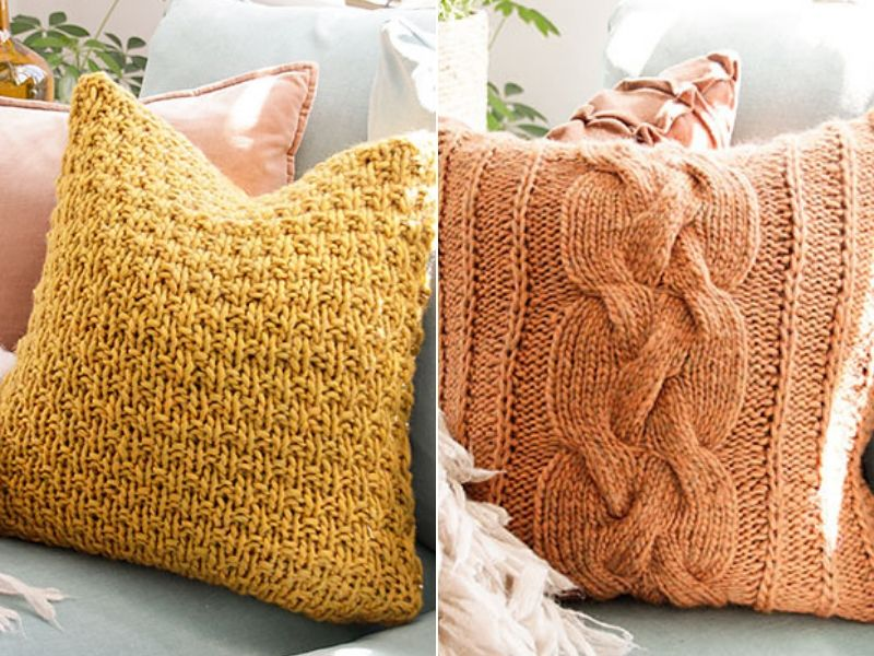 Cozy Knitted Pillows Free Patterns