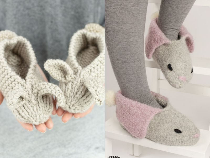 Cute Bunny Slippers Ideas Free Knitting Patterns