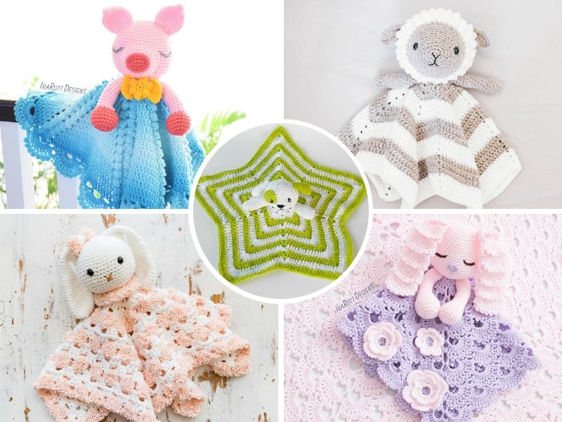 Cute Crochet Security Blankets