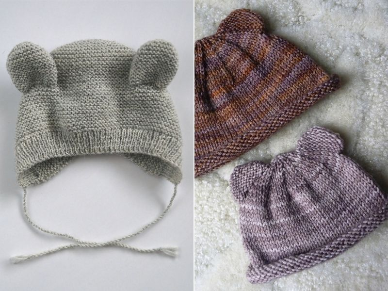 Cute Knitted Bear Hats Free Patterns