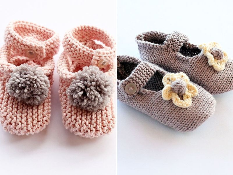 Cute Knitted Booties for Girls Free Patterns