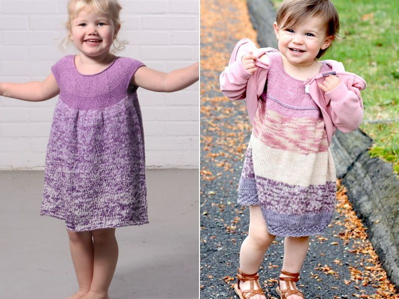 Cute Knitted Dresses Free Patterns