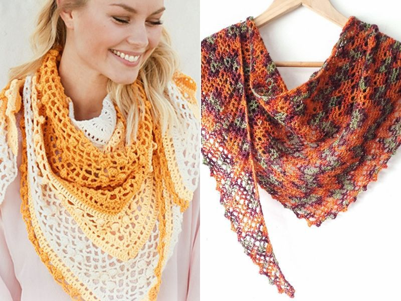 Delicate Crochet Shawls Free Patterns
