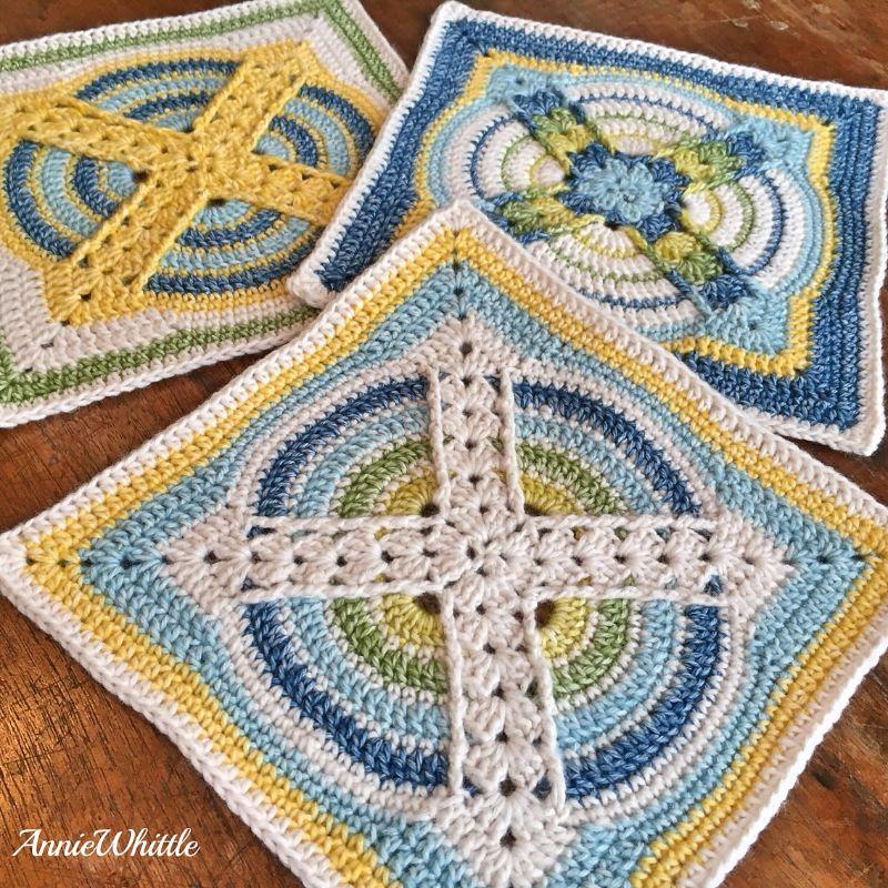 Stunning Afghan Square Denna Free Crochet Pattern