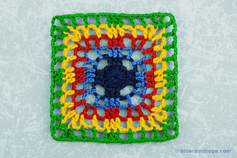 Doric Square Free Crochet Pattern