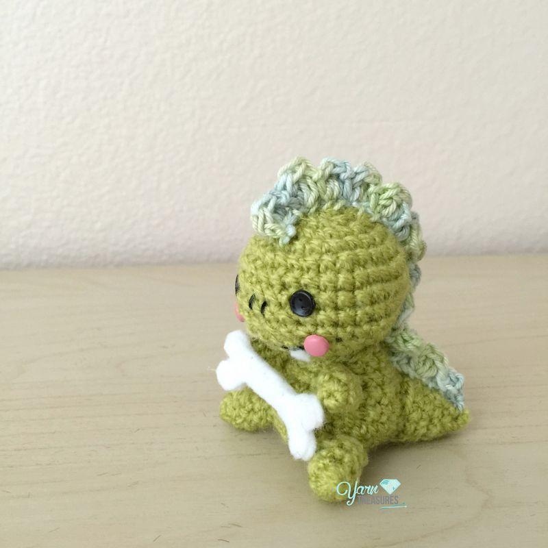 Dyno Mini Dinosaur Free Crochet Pattern