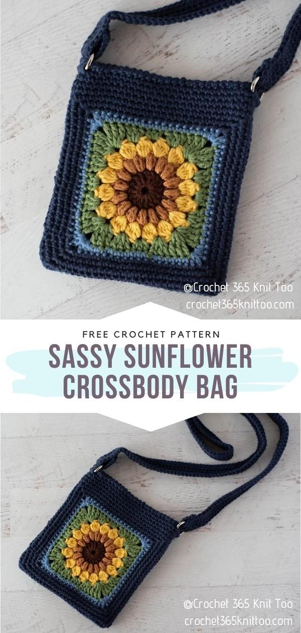 Sunflower Crossbody Bag