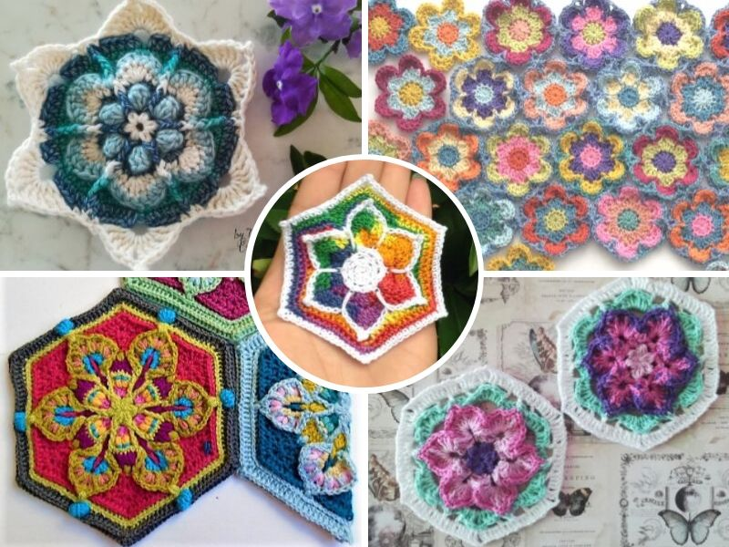 Floral Hexagon Motifs