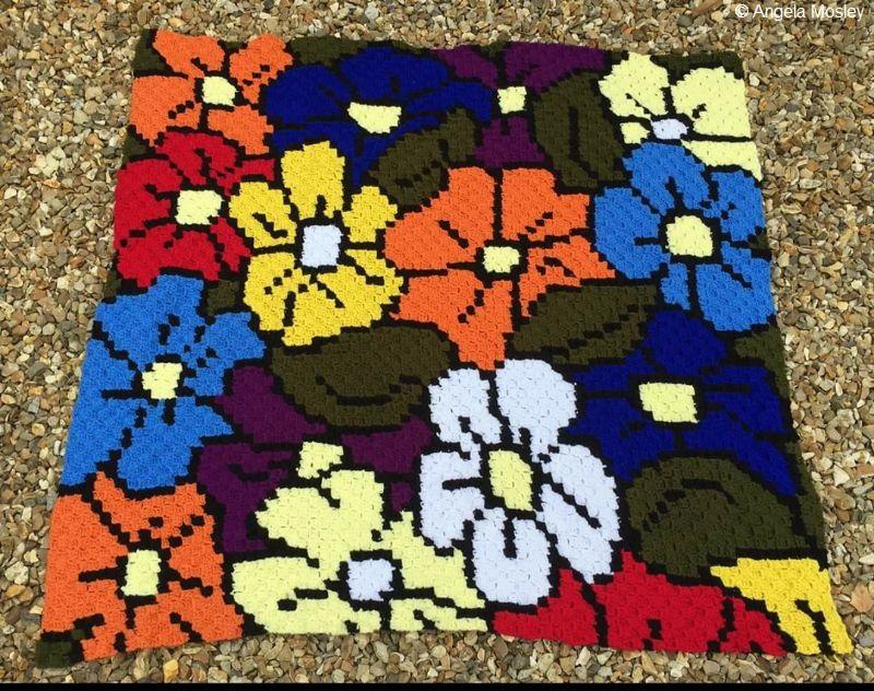 Forever Flowers C2C Crochet Pattern