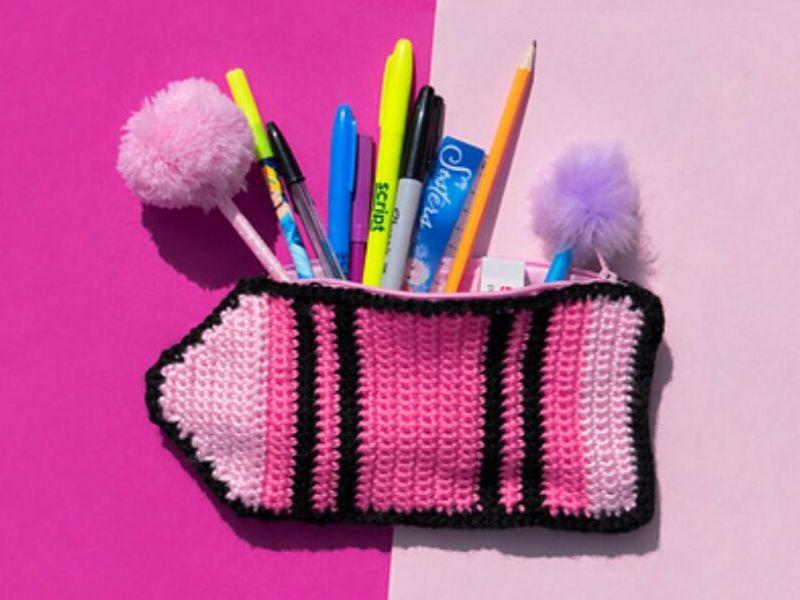 Funky Pencil Case Ideas Free Crochet Patterns