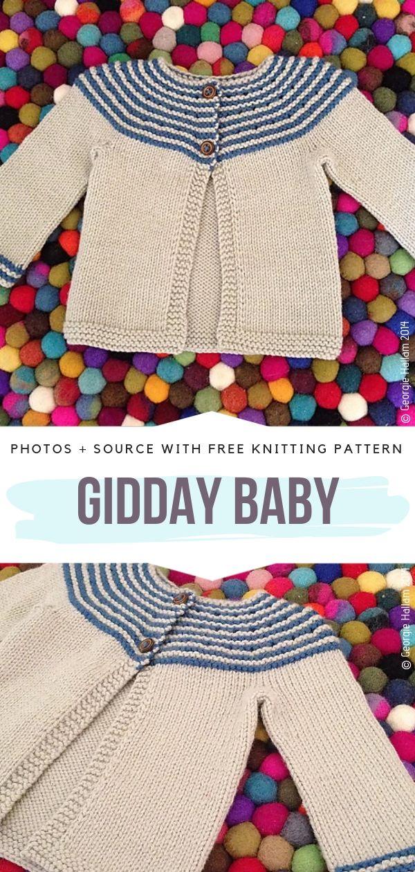 Gidday Baby Free Knitting Pattern