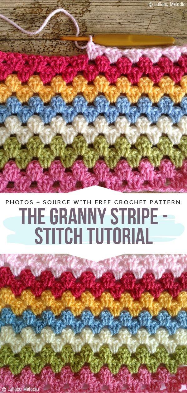 The Granny Stripe Stitch Tutorial