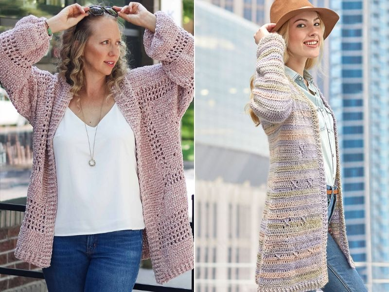 Great Everyday Cardigans Free Crochet Patterns