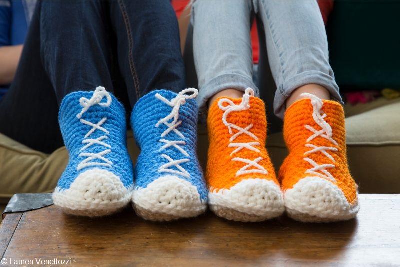 Hi-Top Slipper Socks Free Crochet Pattern