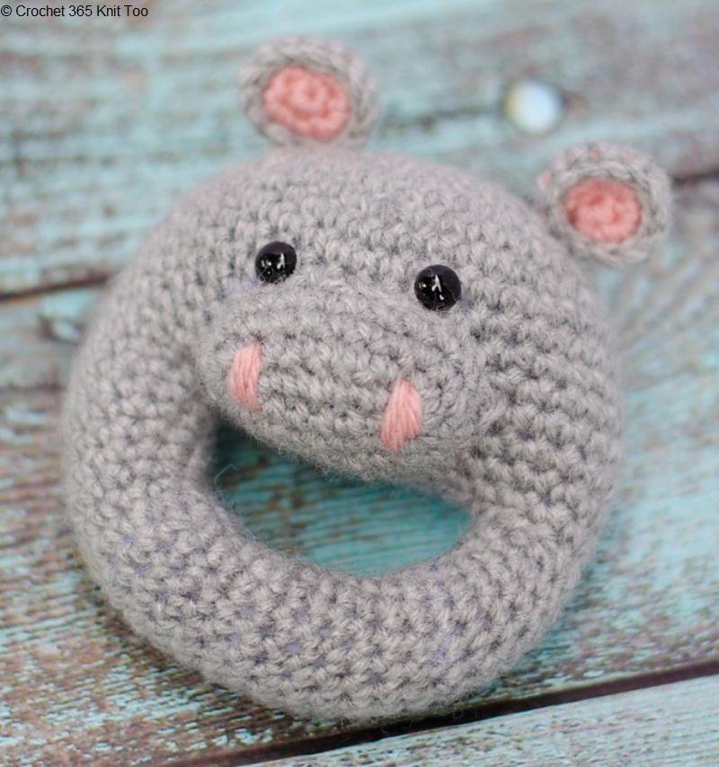 Crochet Hippo Rattle