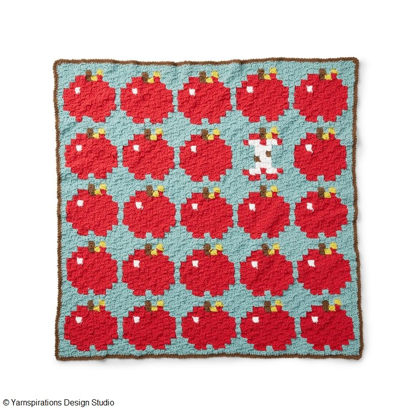 How 'Bout Them Apples? Blanket Free Crochet Pattern