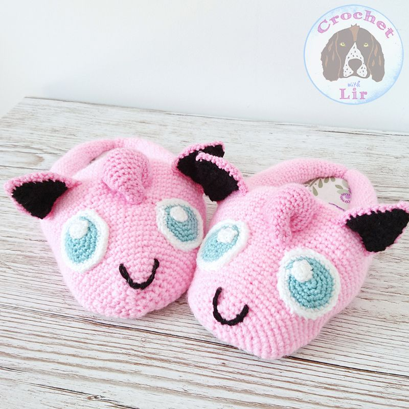 Jigglypuff Inspired Slippers Crochet Pattern